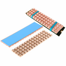 Load image into Gallery viewer, Copper Heatsink Cooler Heat sink Thermal Conductive Adhesive For M.2 NGFF 2280 PCI-E NVME SSD 67*18mm Thickness 2mm/3mm/4mm C26