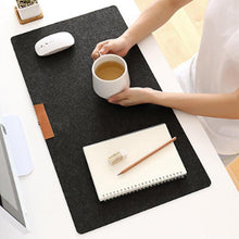 Load image into Gallery viewer, 700x330mm Large Office Desk Mat Modern Table Keyboard Computer Mouse Pad Wool Felt Laptop Cushion Desk Mat Gaming Mousepad Mat