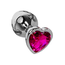 Load image into Gallery viewer, 7.5CM Anal Plug Heart Stainless Steel Crystal Anal Plug Removable Butt Plug Stimulator Anal Sex Toys Prostate Massager Dildo