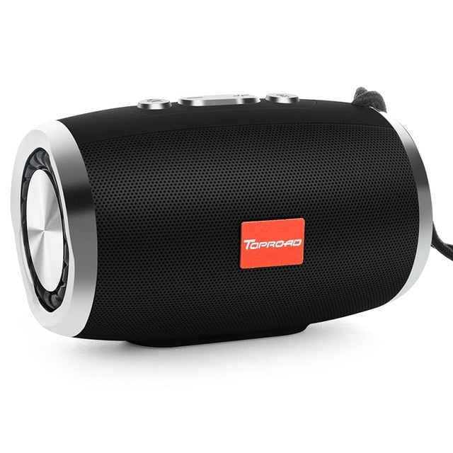 TOPROAD HIFI Portable Wireless Bluetooth Speaker Stereo Column Boombox Subwoofer Speakers Support FM Radio TF AUX USB for Phones