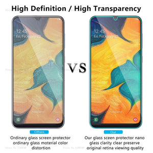 Tempered Glass For Samsung Galaxy A30 A50 Screen Protector 9H Safety Protective Film On A 30 50 A70 A40 A60 A90 M10 M20 M30 A10