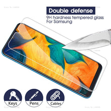 Load image into Gallery viewer, Tempered Glass For Samsung Galaxy A30 A50 Screen Protector 9H Safety Protective Film On A 30 50 A70 A40 A60 A90 M10 M20 M30 A10