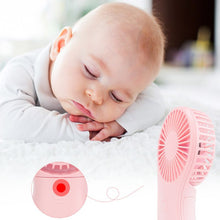 Load image into Gallery viewer, Mini Portable Pocket Fan Cool Air Hand Held Travel Cooler Cooling Mini Fans Power By 3x AAA Battery Office Outdoor Home Mini Fan