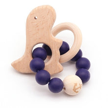 Load image into Gallery viewer, Wooden Teether Baby Bracelet Animal Shaped Jewelry Teething For Organic Wood Silicone Beads Baby Rattle Stroller Accessories Toy
