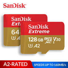 Load image into Gallery viewer, SanDisk Memory Card Extreme micro SD Card UHS-I C10 U3 V30 A2 microSDHC/microSDXC Flash 32GB 64GB 128GB 256GB 400GB TF Card