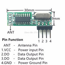 Load image into Gallery viewer, 1 Set 433Mhz Superheterodyne RF Receiver Transmitter Module Kit With 2 Antennas For ARM/MCU