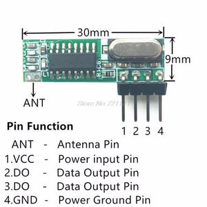 1 Set 433Mhz Superheterodyne RF Receiver Transmitter Module Kit With 2 Antennas For ARM/MCU