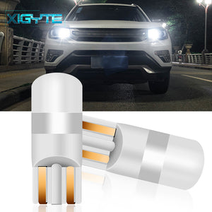 2PCS 2019 3030 SMD 350LM T10 W5W LED Car Clearance Lights Reading Lamp Auto Vehicle Dome Door Bulb Accessories Pure White 6000K