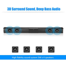 Load image into Gallery viewer, 20W TV Sound Bar Wired and Wireless Bluetooth Home Surround SoundBar for PC Theater TV Speaker