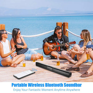20W TV Sound Bar Wired and Wireless Bluetooth Home Surround SoundBar for PC Theater TV Speaker