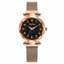 Load image into Gallery viewer, Ladies Dress Watches Magnetic Starry Sky Women Wristwatch Luxury Rose Gold Female Quartz Clock reloj mujer relogio feminino 2019