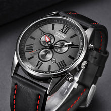Load image into Gallery viewer, XINEW Men Watch Leather Band Sports Date Analog Alloy Military Quartz watch man watches mens 2019 relogios masculino