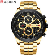 Load image into Gallery viewer, CURREN Business Men Watch Luxury Brand Stainless Steel Wrist Watch Chronograph Army Military Quartz Watches Relogio Masculino