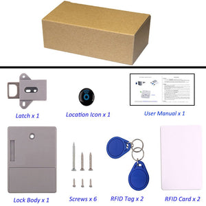 Invisible Hidden RFID Free Opening Intelligent Sensor Cabinet Lock Locker Wardrobe Shoe Cabinet Drawer Door Lock Electronic Da