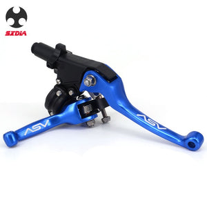 ASV F3 2nd ShortAlloy Brake & Clutch handlebar lever for Motocross Motorcycle Pitbike Dirt Pit Bike Universal Patrs Red