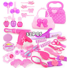 Load image into Gallery viewer, 24-32PCS Pretend Play Kid Make Up Toys Pink Makeup Set Princess Hairdressing Simulation Plastic Toy For Girls Dressing Cosmetic