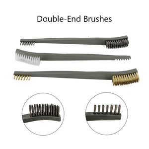 7pcs/Set 3pcs Steel Wire Brush + 4pcs Nylon Pick Set Universal Gun Hunting Cleaning Kit Tactical Rifle Pistol Gun Cleaning Tool