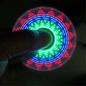 Night toy Random color 18 Multi-styling colorful Luminous Fidget Spinner Stress Relief Toy Children's novelty toy kids LED toy