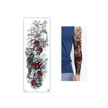 Load image into Gallery viewer, Full Flower Temporary Tattoo Sticker Arm Fake Tattoo Sticker Skull Lion Dragon Body Paint Waterproof Transfer Fake Tattoo Sleeve