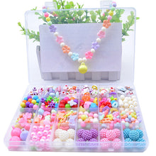 Load image into Gallery viewer, DIY Handmade Beaded Toy with Accessory Set Children Creative 24 Grid Girl Jewelry Making Toys Educational Toys Children Gift