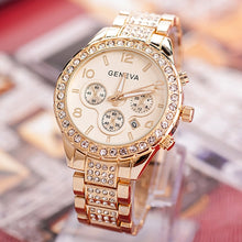 Load image into Gallery viewer, Women  Watches Stainless Steel Exquisite Watch Women Rhinestone Luxury Casual Quartz Watch Relojes Mujer 2019 New Arrivals 876