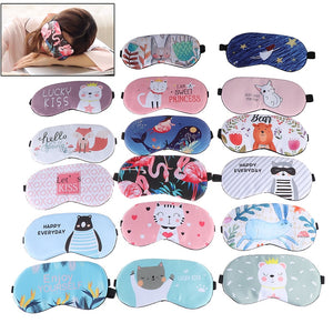 1pc Sleeping Mask Eyepatch Eye Cover Cotton Creative Lovely Cartoon for Eye Travel Relax Sleeping Aid Eye Patch Shading Eye Mask