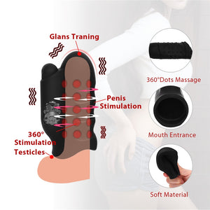Powerful 10 Speeds Male Masturbator Glans Exerciser Bullet Vibrators Delay Lasting Trainer Penis Massager Adult Sex Toys For Men
