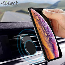 Load image into Gallery viewer, Tideok Magnetic Car Phone Holder L Shape Air Vent Mount Stand in Car GPS Mobile Phone Holder For iPhone X Samsung S9 Xiaomi