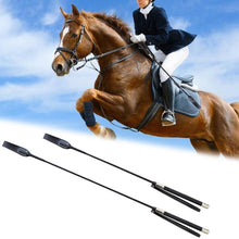 Load image into Gallery viewer, Leather Horsewhips Equestrian Horseback Riding Whips Lash Supplies 51CM/65CM Portable Lightweight More Durable