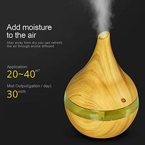DEKAXI 300ml USB wood Ultrasonic air humidifier Electric Aroma air diffuser  Essential oil Aromatherapy cool mist maker for home