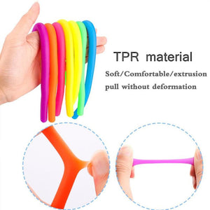 Children Adult Decompression Toy Luminous Noodle Stretch String TPR Rope Anti Stress Toys String Fidget Autism Vent Toys 28cm