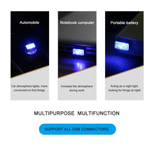 Load image into Gallery viewer, Mini LED Car Light Auto Interior USB Atmosphere Light Plug and Play Decor Lamp Emergency Lighting PC Car Accessories