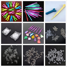 Load image into Gallery viewer, Tools rubber loom bands for children girl gift diy set pendant crochet s buckles Hooks knit tools for weaving lacing bracelet