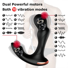 Load image into Gallery viewer, Sex Toys For Men Prostate Massager Vibrator Butt Plug Anal Tail Rotating Wireless Remote USB Charging Adult Products For Man