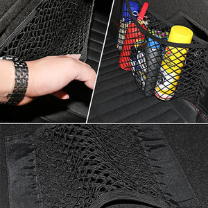 Mesh Trunk Car Organizer Net Goods Universal Storage Rear Seat Back Stowing Tidying Auto Accessories Car Storage Bag