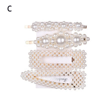 Load image into Gallery viewer, 1 Set Korea Fashion Solid Pearl Hair Clips for Women Hair Barrette Hairpins Trendy Handmade Hair Styling Accessories Nice Gifts