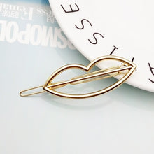 Load image into Gallery viewer, 2019 Fashion Hair Clip for Women Elegant Design Triangular Moon Lip Round Barrette Stick Hairpin Hair Pins Head Accessories #01
