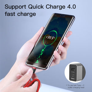 Baseus USB Type C to Type C Cable for Redmi K20 Note 7 Pro Quick Charge 4.0 Fast Charge Type-C Cable for Samsung S9 USB-C Wire