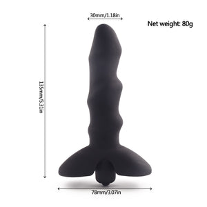 10 Speeds Vibrator Anal Plug Sex Toys for Men/ Women, Black Body Massage Medical Silicone Butt Plug Sex Products for Adult