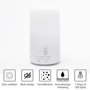 Mini Air Ultrasonic Humidifier USB Charging 5Color Led Night Light Aromatherapy Essential Oil Aroma Diffuser For Home Car Office