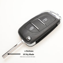Load image into Gallery viewer, jingyuqin CE0523 Modified Flip Folding Key Shell For Peugeot 306 407 807 Partner Remote VA2/HU83 Blade Entry Fob Case 2/3 Button