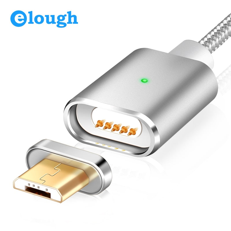 Elough E03 Magnetic Charger Micro USB Cable For Xiaomi Huawei Android Mobile Phone Fast Charging Magnet Microusb Data Cable Wire