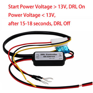 DRL Controller Auto Car LED Daytime Running Light Relay Harness Dimmer On/Off 12-18V Fog Light Controller 2016