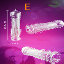 Load image into Gallery viewer, Crystal Silicone Transparent Condom Set Anti-premature Ejaculation Condom Reusable Penis Bigger Fun Condom Adult Toys
