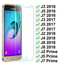 Load image into Gallery viewer, Tempered Glass On For Samsung Galaxy J3 J5 J7 2016 2017 J2 J5 J7 Prime Screen Protector For Samsung J2 J4 J6 J8 Protective Film