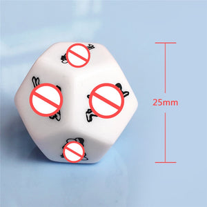 Funny Sex Erotic Dice 12 Side No Vibrator Erotic Crap Sex Love Light Cube Love Dice Toy Adult Sex Toy Luminous Couple Dice Game