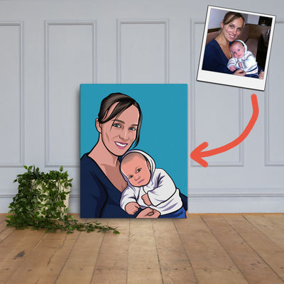 Cartoon op Canvas XL
