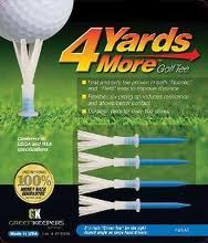 4 Yards More tees 3 1/4