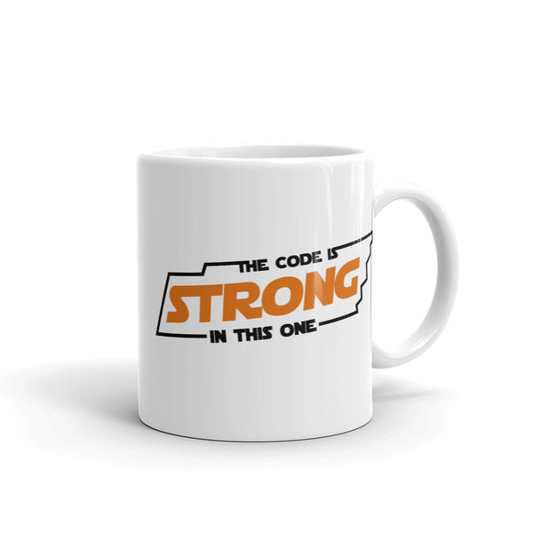 The Code is Strong (Orange) Mug