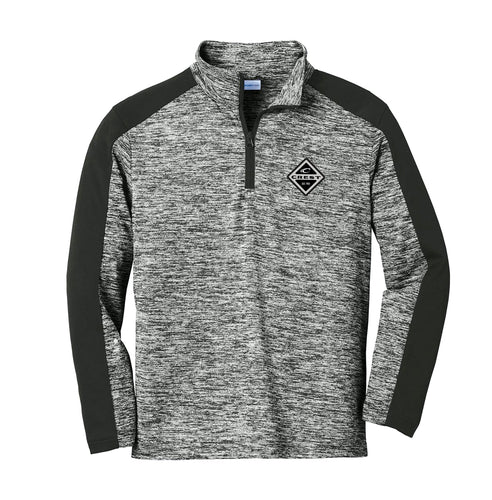 Crest Diamond Electric Men's Heather Quarter Zip